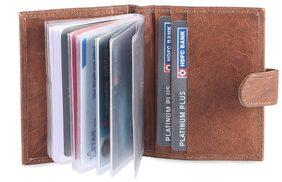 Hide & Sleek Men Leather Card Holder - Brown