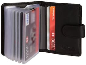 Hide & Sleek Men Leather Card holder - Blue