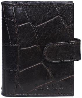 Hide & Sleek Brown Leather Credit Card Holder