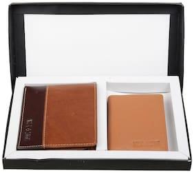 Hide & Sleek Combo Of Men's Brown Wallet & Card Holder