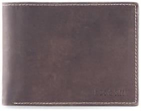 Hide & Sleek Genuine Leather Brown Wallet