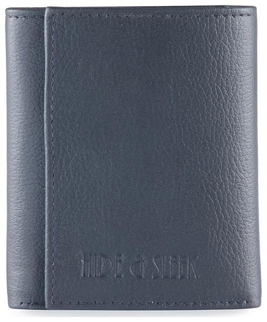 Hide   Sleek Genuine Leather Wallet in Black by Kreative Fashion