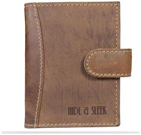 Hide & Sleek Hunter Brown Leather Credit Card Holder
