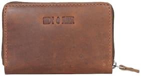 Hide & Sleek Hunter Leather Card Holder In Brown