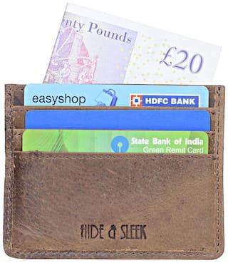 Hide & Sleek Hunter Leather 6 Card Holder In Brown
