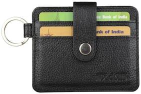 Hide & Sleek Men Leather Card holder - Black