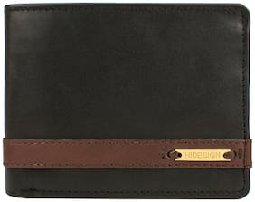 HIDESIGN 2592020S (RFID) BLACK LEATHER MENS WALLET  (Free Duffe Bag on Purchase of Rs. 5000 & Free Sling Bag on purchase of Rs. 8000 )