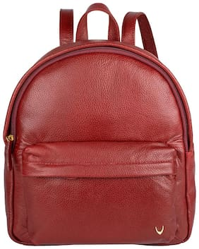 Hidesign Red Leather Backpack