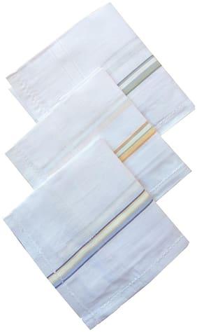 Men Handkerchiefs Pack of 3 ( White )