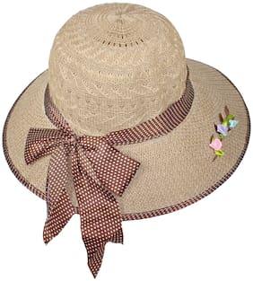 Women Poly Cotton Hats ( Brown )