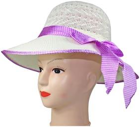 Women Poly Cotton Hats ( White )