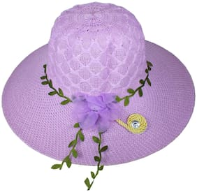 Women Polyester Hats ( Purple )