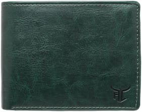 Highlark Men Green Synthetic leather Bi-Fold Wallet ( Pack of 1 )
