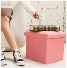 Home utility storage box with sitting stool