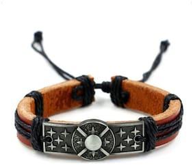 Hot And Bold Men Genuine Leather Bracelets - Brown