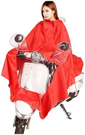 Hoteon Rain Coat Use For Driver And Also Motor Bike Which Includes Hat With Brim It Is Reusable Product Very Good Quality- Rose Pink Color