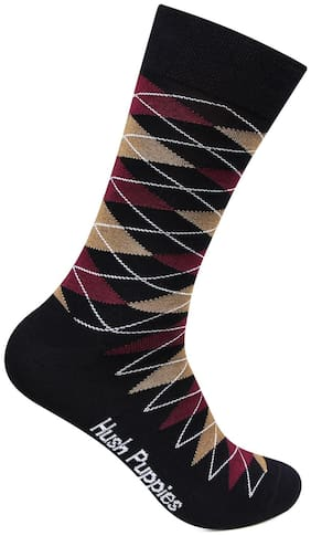Hush Puppies Multi Cotton Crew length socks ( 1 pair )