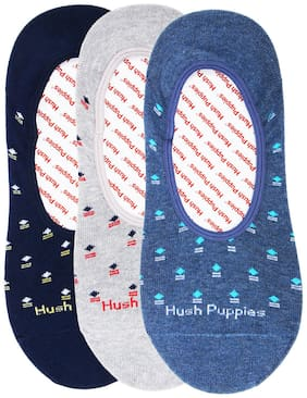 Hush Puppies Assorted Cotton No show socks ( 3 pairs )