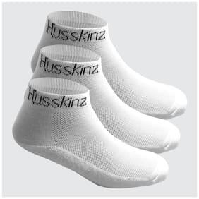 Men Ankle Length Socks Pack of 3 ( White )