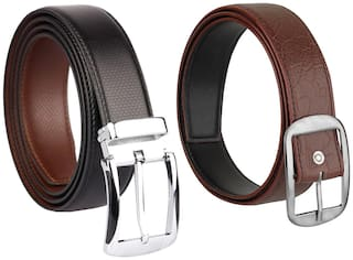 Imperior Combo of Reversible Leather Casual Belt For Men