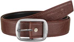 Imperior Elegant Brown Stylish Taxture Belt For Men