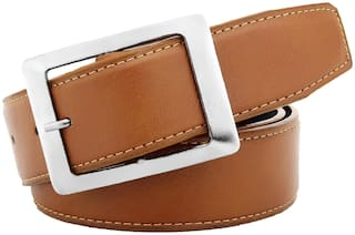 IMPERIOR Men Brown Pu Belt (Size: Free size , Pack of 1 )