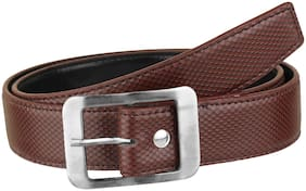Imperior High Quality Brown Dotted Belt For Men