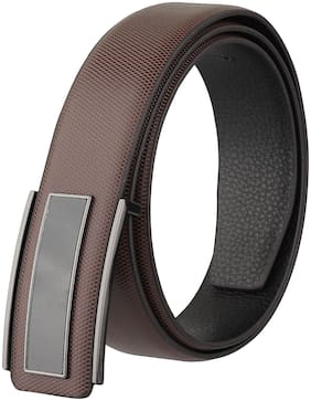 IMPERIOR Men Brown Leather Belt (Size: Free size , Pack of 1 )