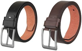 Imperior Pack of Black And Brown PU Leather Belt For Men