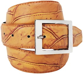 Imperior Stylish Brown Texture Belt For Men