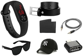 Imperior Value Combo of Led Band;Belt;Wallet;Cap;Sunglass;Aux And OTG