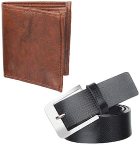 Imported Black Brown Belt Wallet Pack of 2