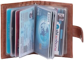 INSTA Exclusive Khaki Artificial Leather Wallet Atm 12 Card Holder  (Set of 1, Khaki)