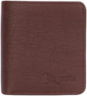 INSTA  Men's Brown Artificial Leather Wallet  (7 Card Slots)