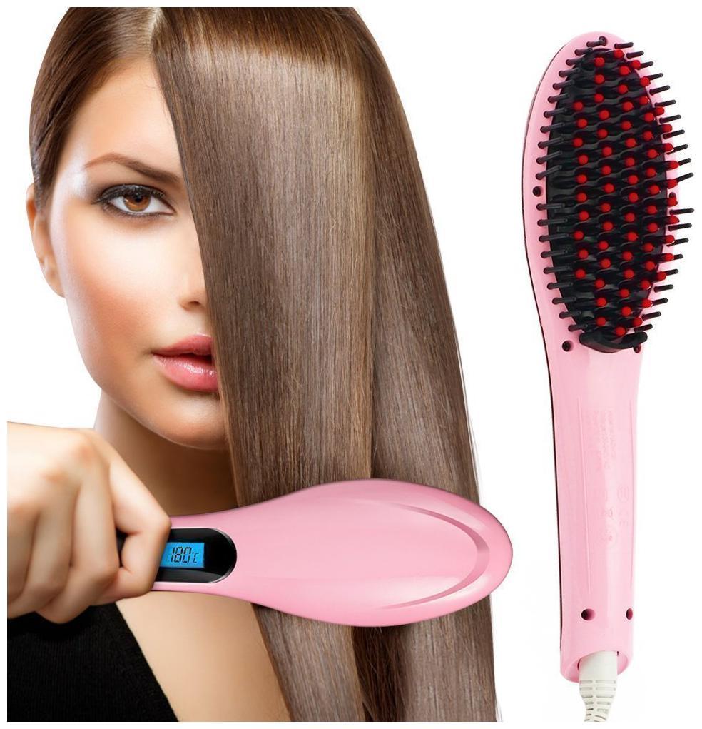 Iron Comb Anti scald Hair Straightener LED Straightening Hair Comb Brush Irons Hqt 906
