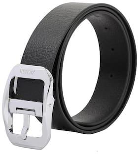 Itsyor Genuine Leather Black formal belt for men