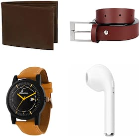Jack Klein Combo Of Wallet;Belt;Watch & Bluetooth