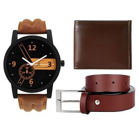 Jack Klein Wallet, Belt & Watch Combo (1 Wallet, 1 Belt, 1 Watch)