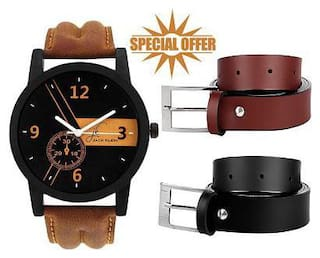 Jack Klein Belt And Watch Combo (1 Watch, 2 Belts)
