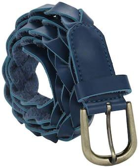 Jainsons Women Casual Blue Genuine Leather Belt