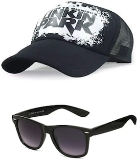 JARS Collections Stylish Cap with Free Black Wayfarer Sunglass