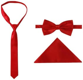JARS Collections Satin Pocket Square - Red