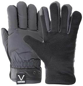 JARS Collections Men Leather Glove - Black