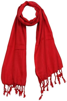 JARS Collections Women Wool Stoles - Red