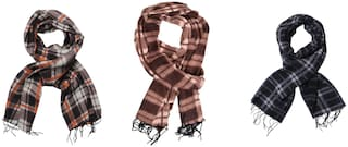 JARS Collections Set of 3 Soft and Warm Woolen Muffler(Assorted)