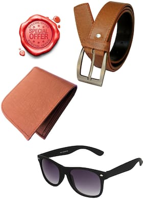 JARS Collections Gift Combo of Belt;Wallet and Wayfarer Sunglass