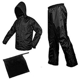 JARS Collections Complete Black Rain Suit with carry bag(Assorted color)