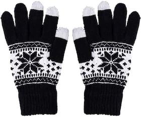 JARS Collections Men Wool Glove - Black