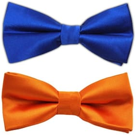 JARS Collections Combo of Royal Blue & Orange Bow Tie