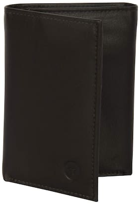 JARS Collections Men Brown Leather Tri Fold Wallet ( Pack of 1 )
